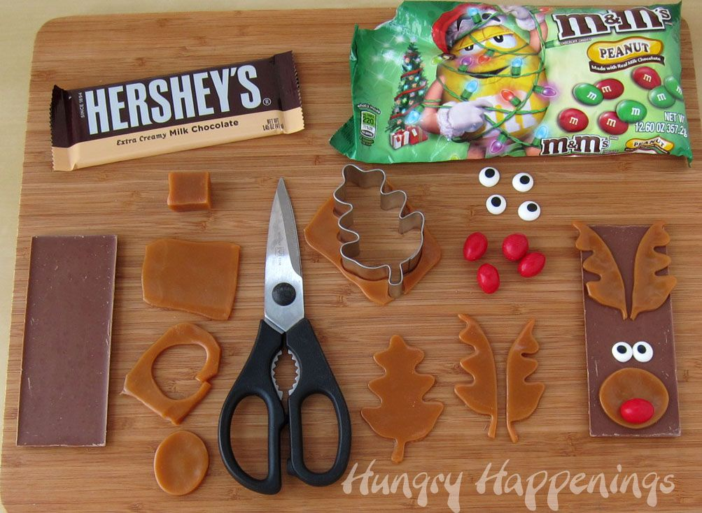 Edible Christmas Craft Ideas Part - 30: Hungry Happenings: Edible Christmas Craft - Rudolph The Red Nose Reindeer  Candy Bars