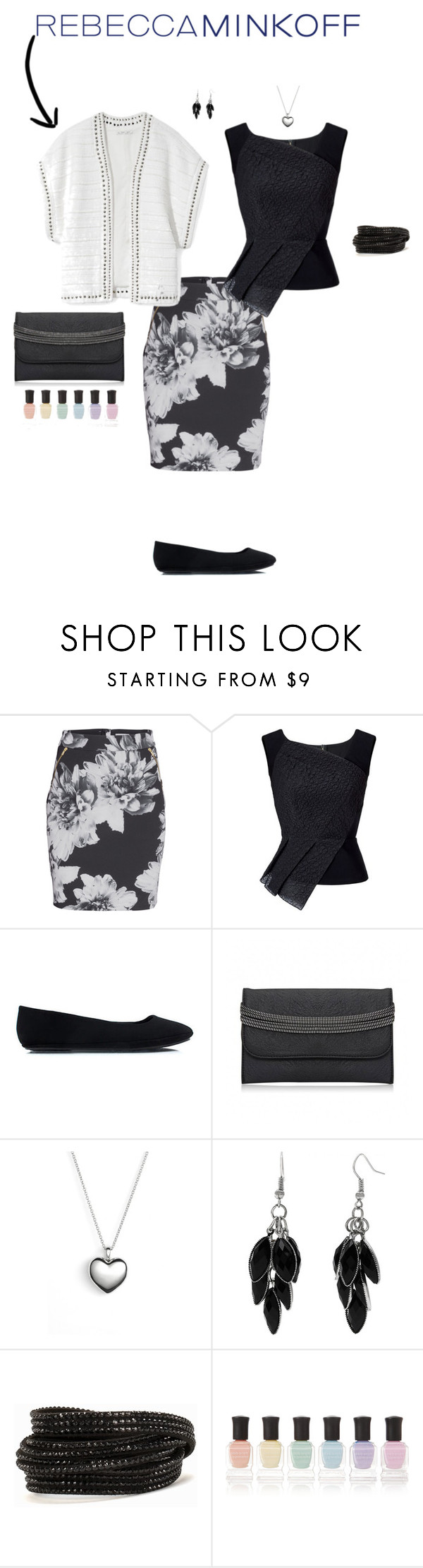"""Untitled #7436"" by erinlindsay83 ❤ liked on Polyvore featuring Rebecca Minkoff, Roland Mouret, Pandora, Alexa Starr, Pieces, Deborah Lippmann, women's clothing, women, female and woman"