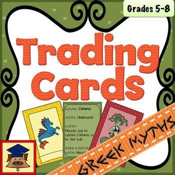 Greek Mythological Creatures Trading Cards Greek Mythological Creatures Mythological Creatures Mythology
