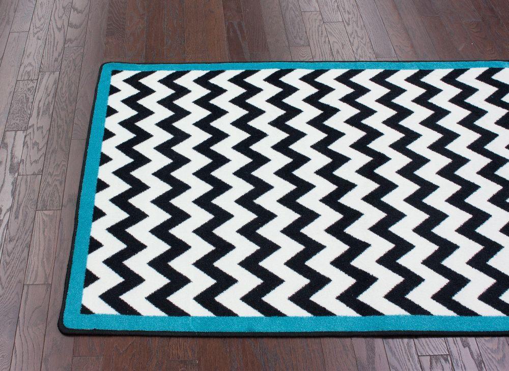 MillikenBlack and WhiteVibe Rug Rugs usa Turquoise and Border rugs