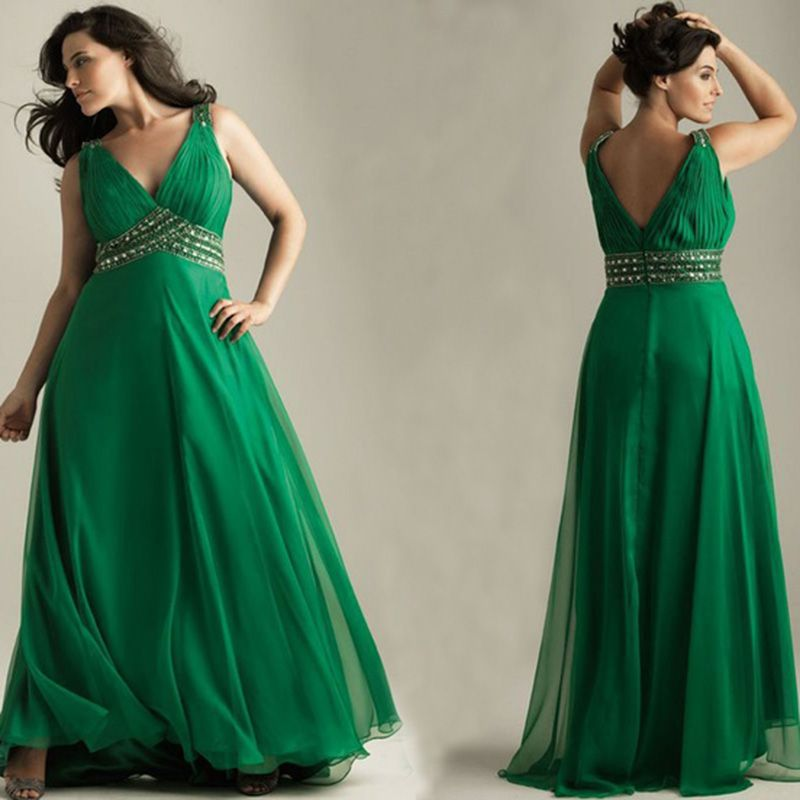 plus size emerald green evening dress | Best dress ideas ...