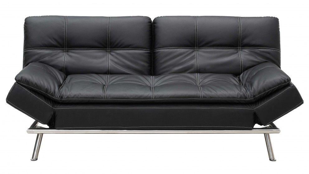 The Click Clack Sofa Bed Chronicles In 2020 Black Leather Sofa