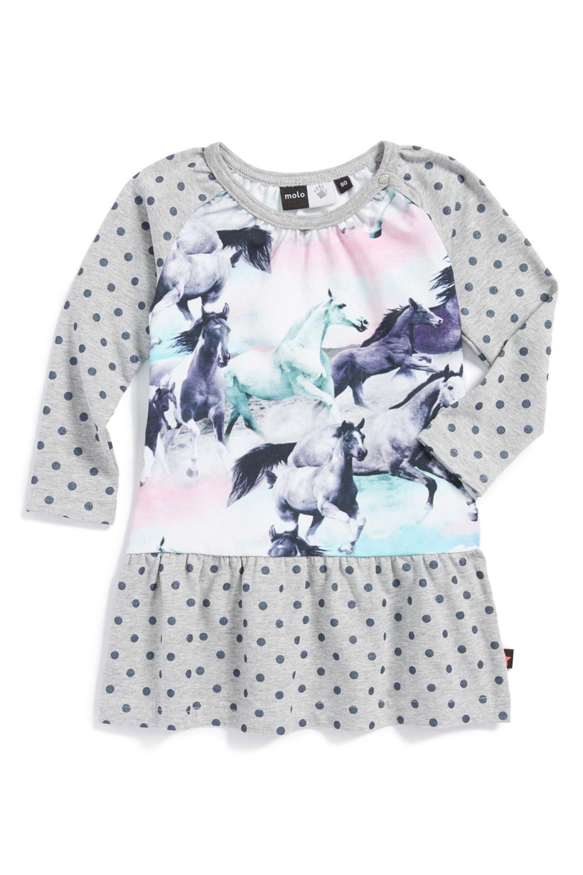 Cammon Cotton Blend Print Dress Baby Girls