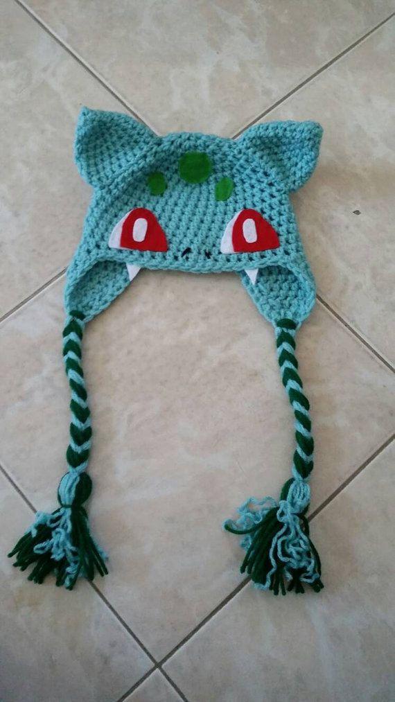 Crochet Bulbasaur Beanie/Hat | Envíalo, Pokémon y Prioridad