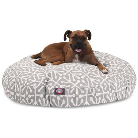 Majestic Pet Aruba Round Dog Bed Treated Polyester Removable Cover Gray Large 42 X 42 X 5 Walmart Com Round Dog Bed Dog Bed Large Dog Pet Beds