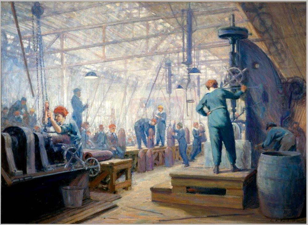 Women Factory Operators Agnew Reid c1919 Art