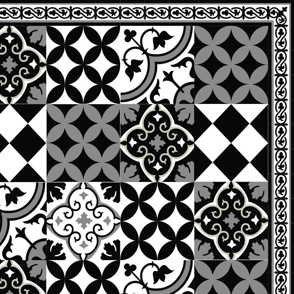 Black White Pvc Vinyl Mat Oriental Maroccan Design Kitchen Mat Livingroom Decor Bathroom Mat Custom Size Easy To Clean 313 Carreaux De Miroir Peinture Carrelage Sol Tapis