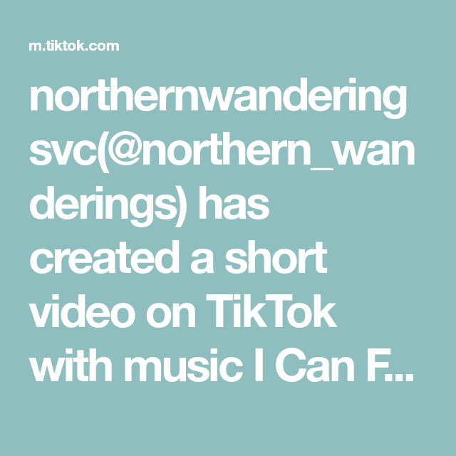 Northernwanderingsvc Northern Wanderings Has Created A Short Video On Tiktok With Music I Can Feel It Christmas Inst Christmas Ideas Gifts Music Night Looks
