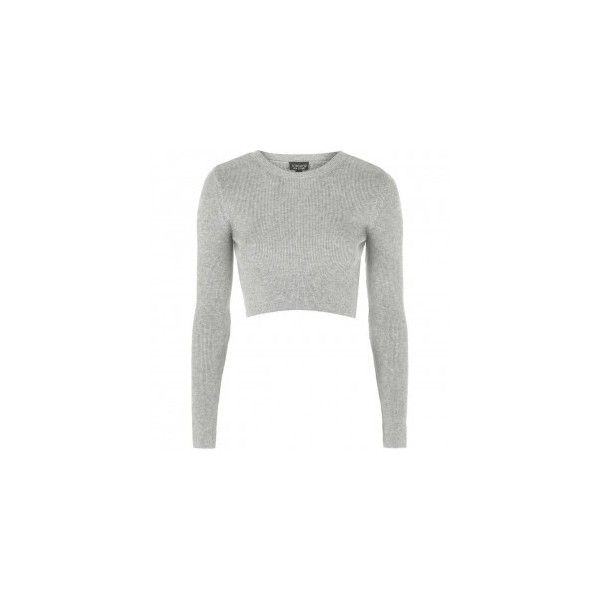 8e05a3487271d Topshop Ribbed Crew Neck Sweater ❤ liked on Polyvore featuring tops