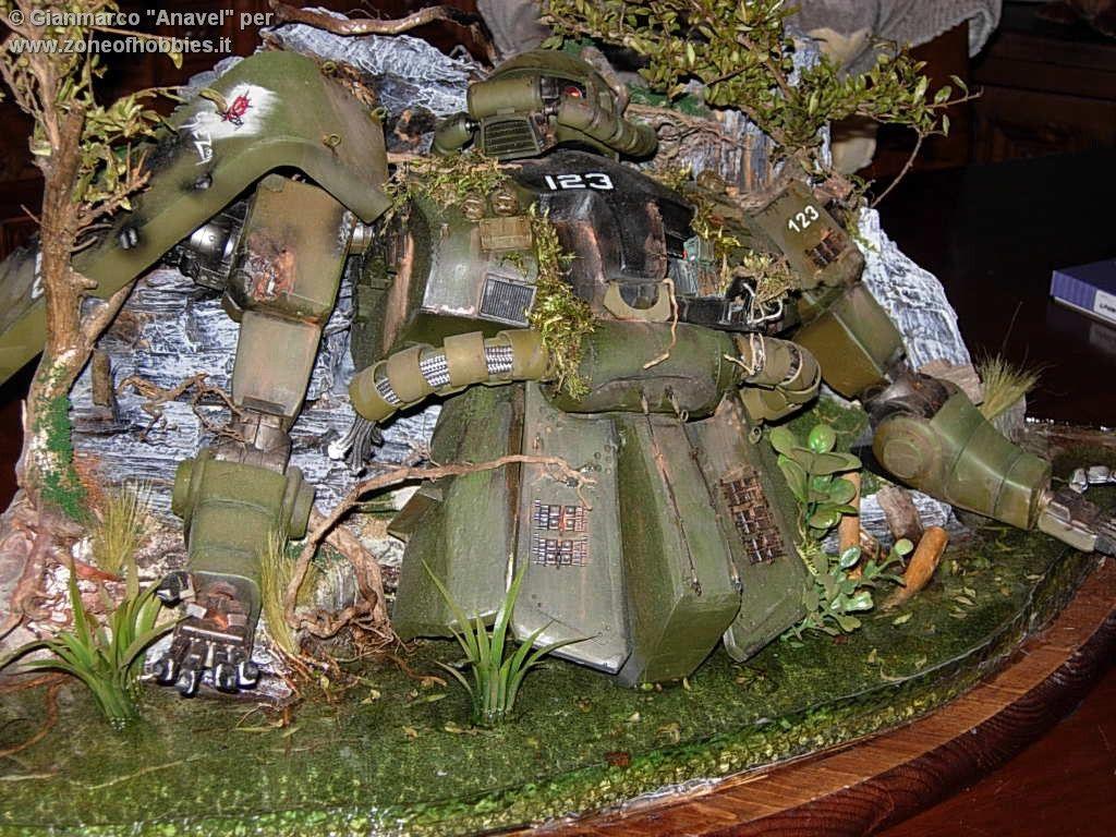 MS Zaku - 1:35 Scale - Custom Resin Model + Diorama by anavelgatoh