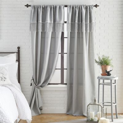 Roxy Solid 108 Inch Rod Pocket Window Curtain Panel In Dove Grey
