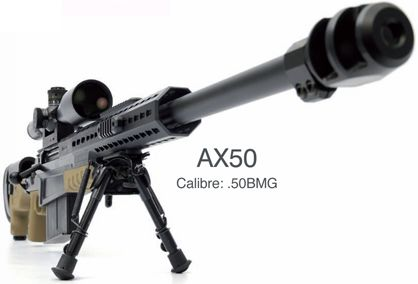 Accuracy International AX50  In my opinion the best sniper