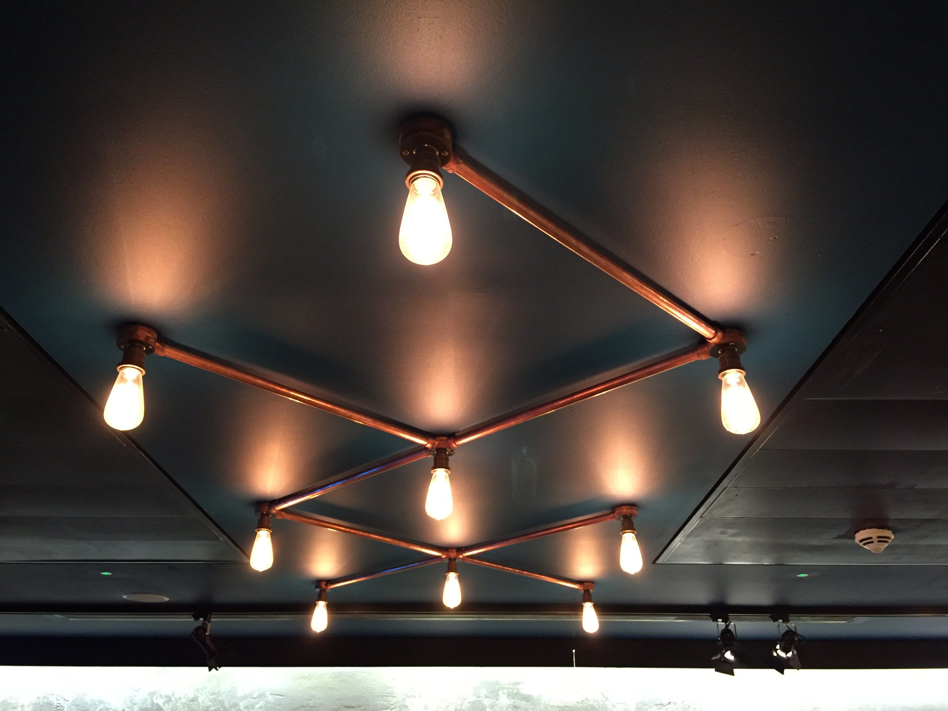conduit light fittings hand made electrical new industrial bespoke kilner glass