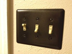 Old Ugly Light Switch Covers Spray Paint Them