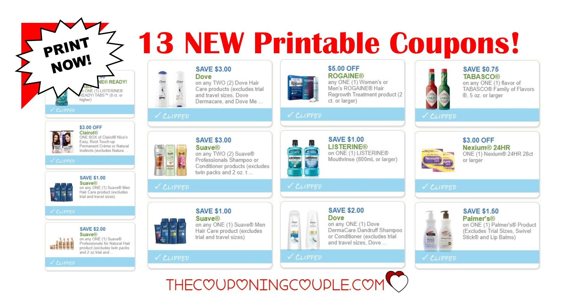 13 New Printable Coupons Over 27 In Savings Woo Hoo Printable Coupons Coupons Printables