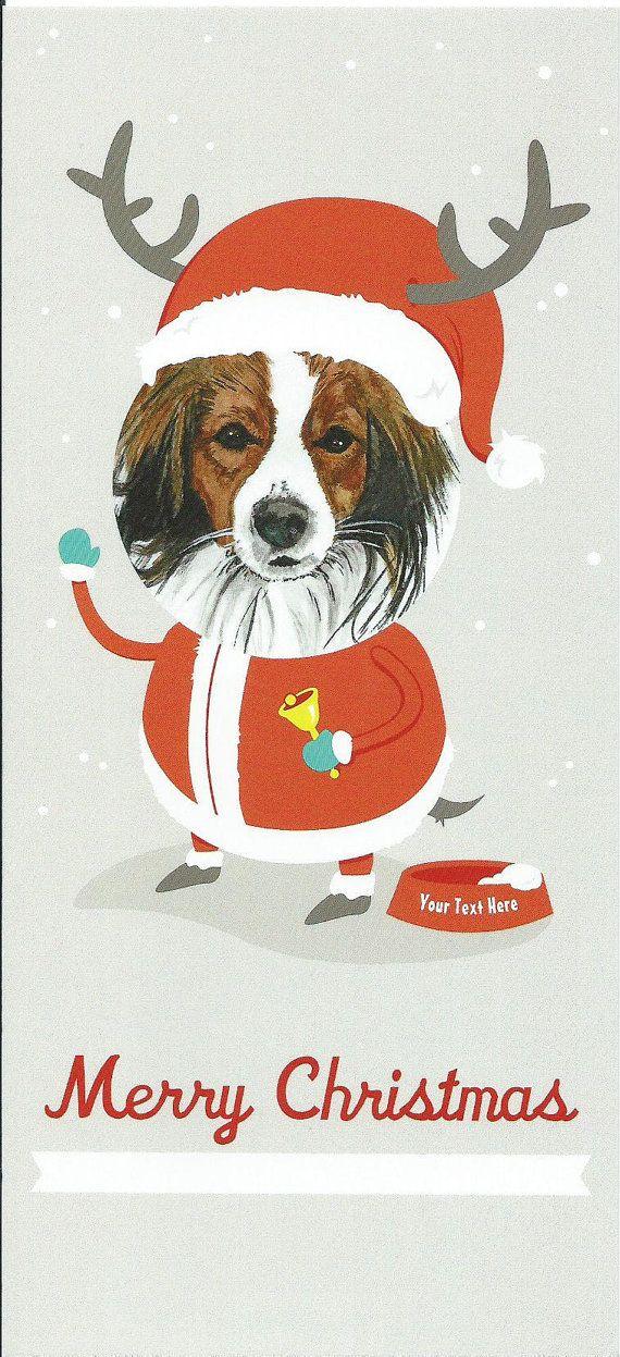 Kooikerhondje Santa Claus Cards set of 5 by ArtstudioSFuller, $12.50