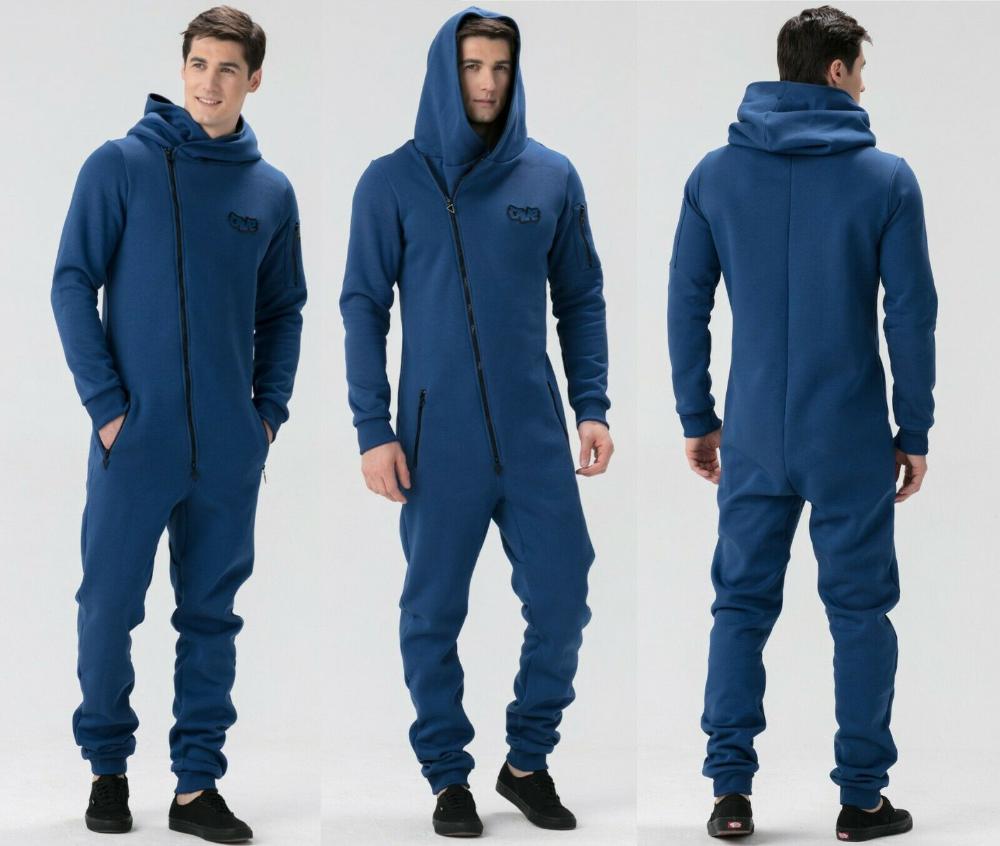 Jumpsuit Men Tracksuit Playsuit Sports Wear Hooded Zip All In Onepiece Roomper Ebay Jumpsuit Men Men Tracksuit Track Suit Men [ 846 x 1000 Pixel ]