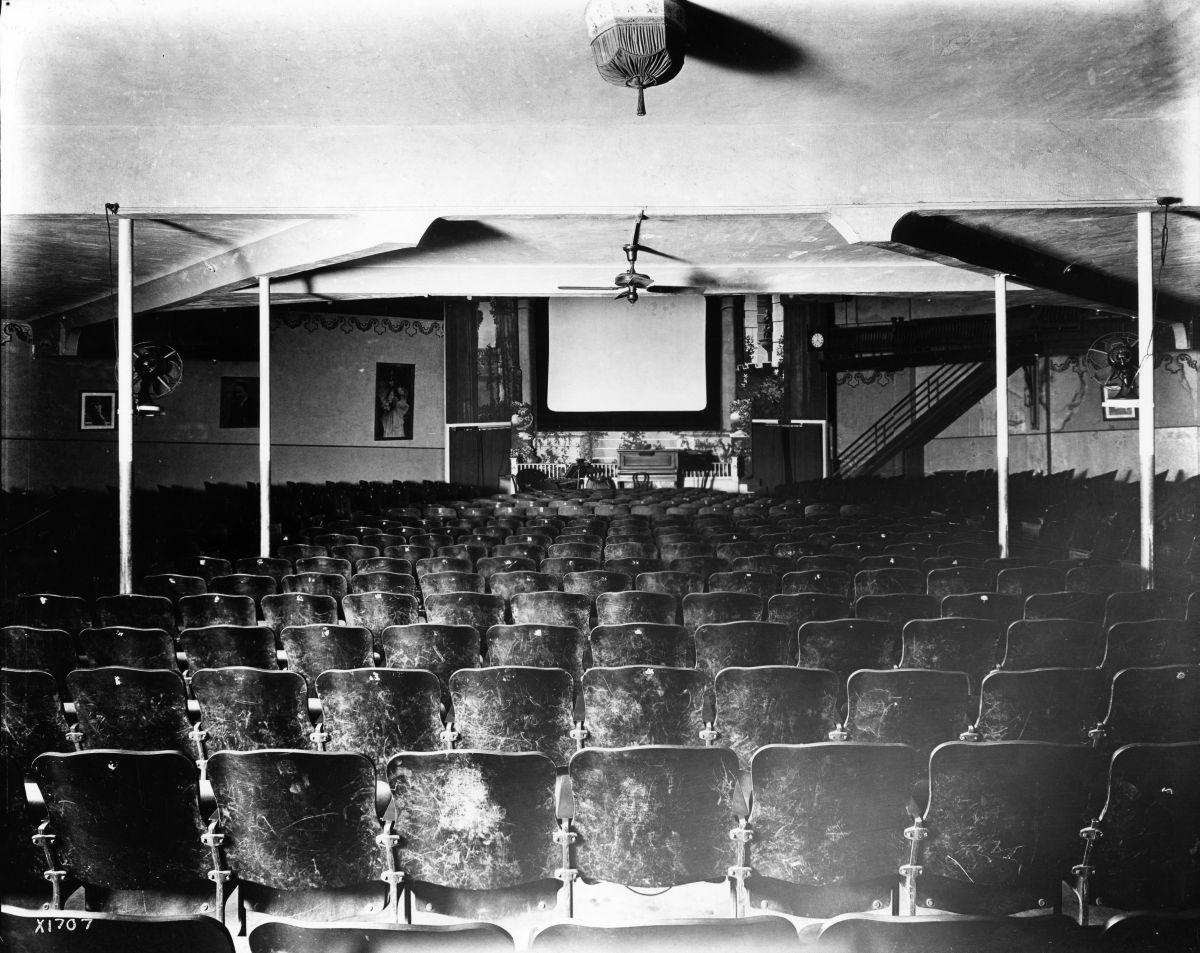 An interior view of the paramount theater in miami
