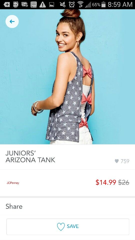 Bows in the back Tank Top