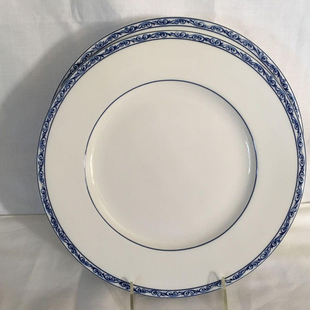 & Two (2) Ralph Lauren Mandarin Blue Dinner Plates New with Tag