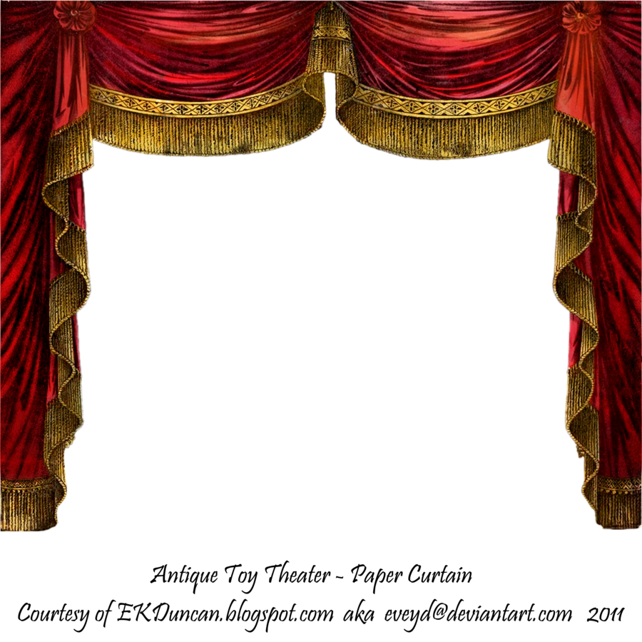 Theatre curtains png - Stage Border Curtains Paper Theater Curtain Ruby By Eveyd On Deviantart