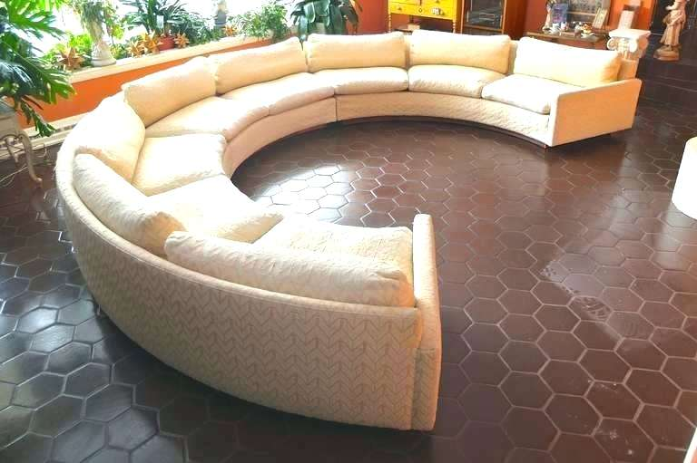 half circle couch semi circle sectional