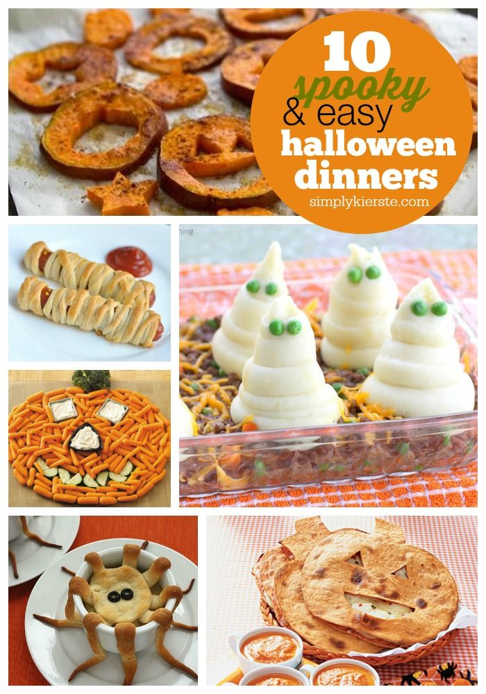 10 Spooky  Easy Halloween Dinner Ideas Dinner ideas, Spooky - spooky food ideas for halloween