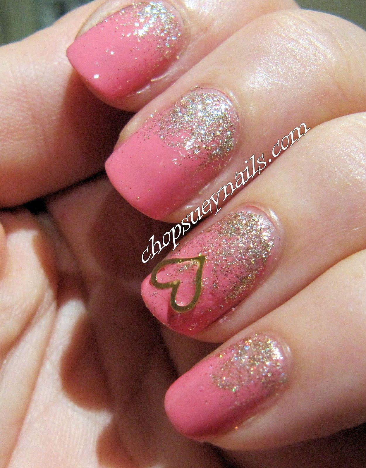 Chanel May with China Glaze I'm Not Lion Reverse Glitter Gradient Nail Art