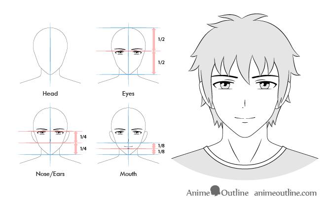 Anime Male Smiling Facial Expression Tutoriais De Desenho Tutoriais De Desenho Anime Tutoriais