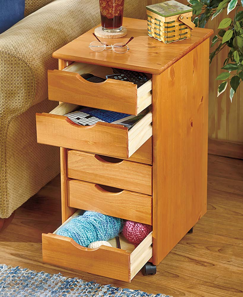 6 Drawer Wood Storage On Wheels Wood Storage Furniture Storage