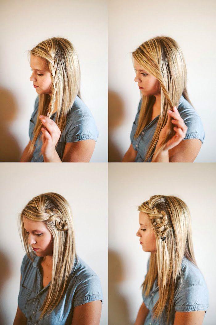 1001 Inspirierende Ideen Fur Einfache Flechtfrisuren Zum Selbermachen Geflochtene Haare Haar Styling Geflochtene Frisuren
