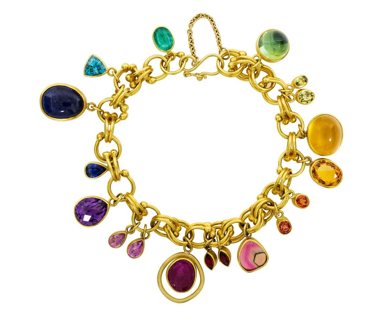 Mixed gem jubilee bracelet gems bracelets and gold