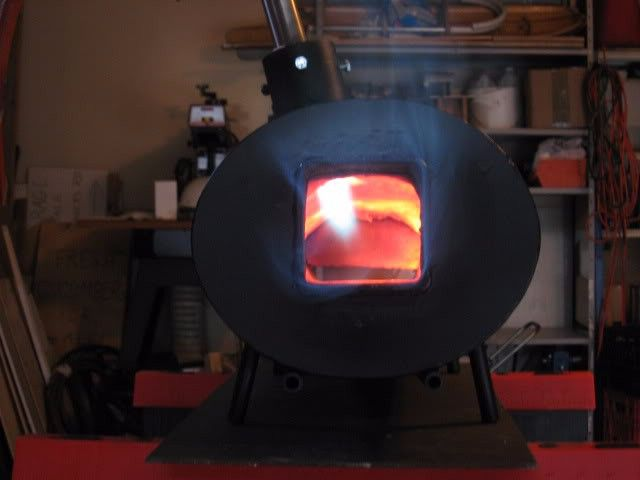 Knife Forge by CAL G -- Homemade knife forge constructed from sheetmetal, pipe, refractory material, and a burner. http://www.homemadetools.net/homemade-knife-forge