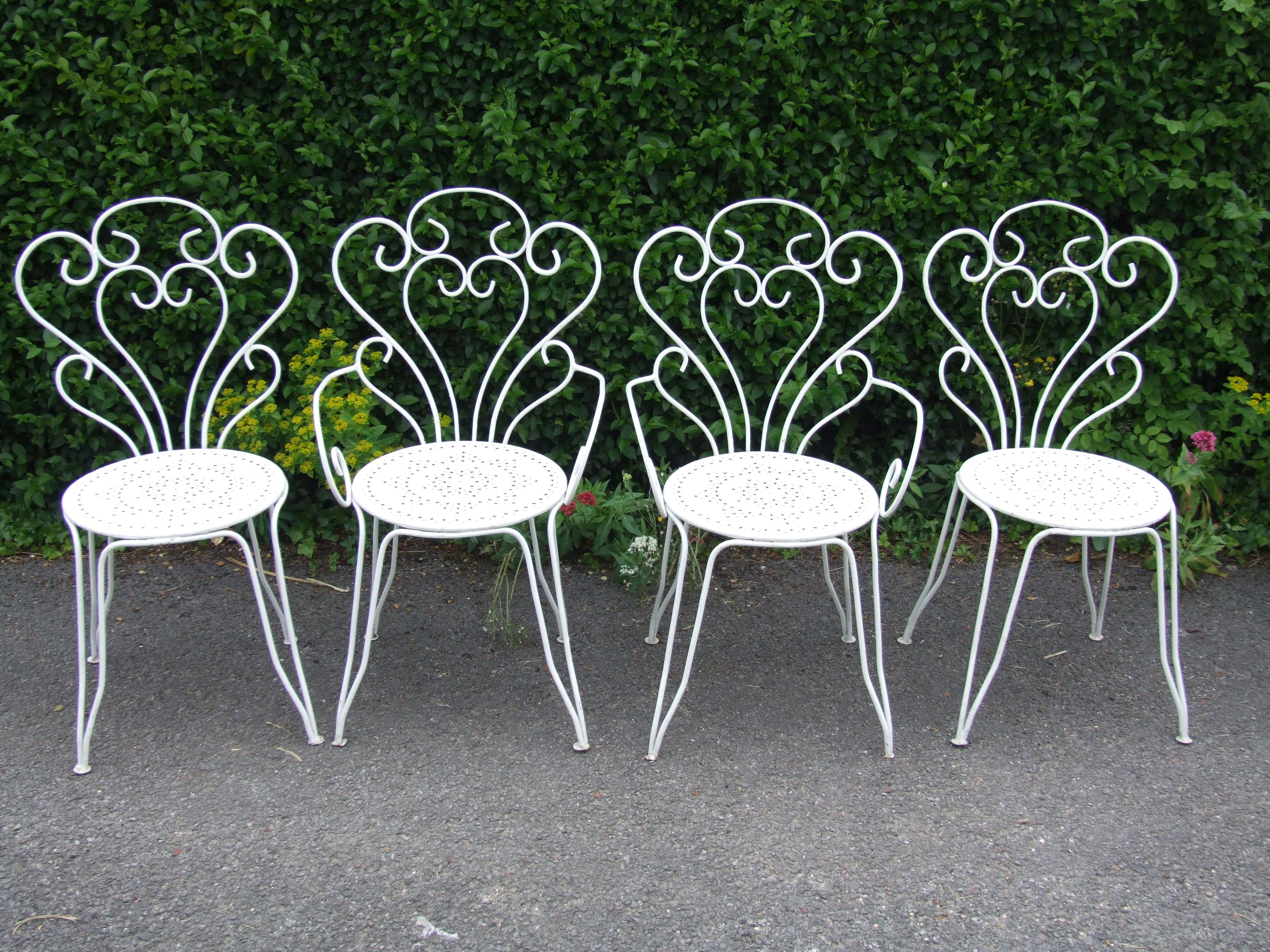 Furniture Garden Chair Vintage White Outdoor