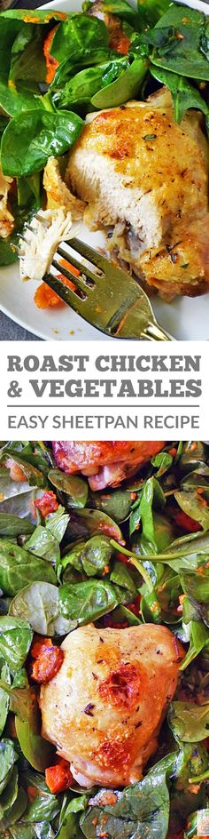 My Roasted Chicken and Vegetables Recipe is a family favorite that's ready in 30 minutes, requires very little prep, and there's only one pan to clean up! Winner winner easy chicken dinner! #LTGrecipes
