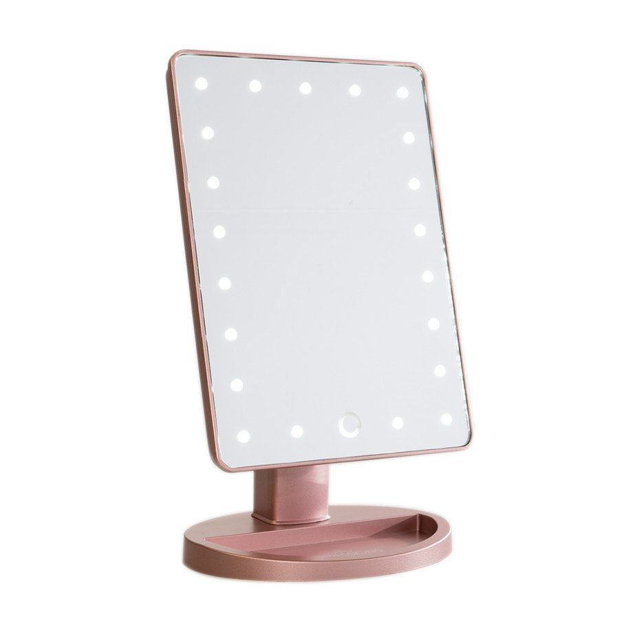 Black vanity salons vanities habitats the mirror outlets mirror - Impressions Vanity Touch Dimmable Led Makeup Mirror In Rose Gold