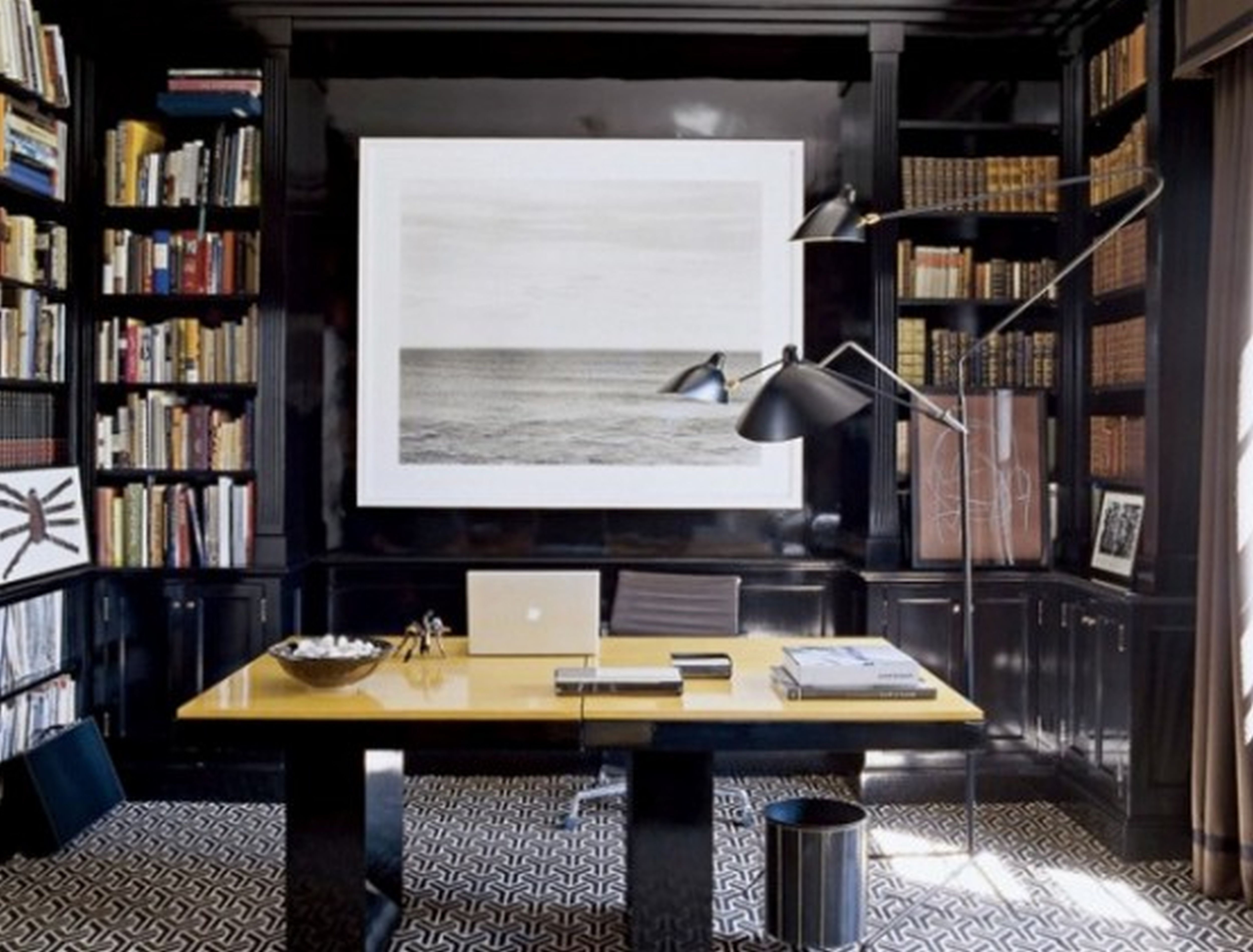 Astounding Stylish And Dramatic Masculine Home Office Design Ideas