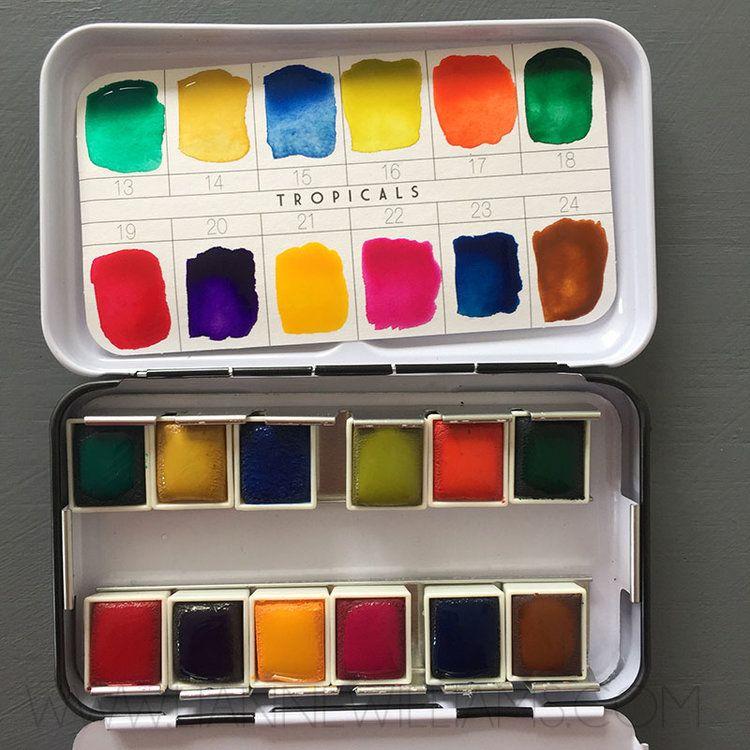 Prima Watercolor Confections Paint Palette Tropicals 7 Jpg