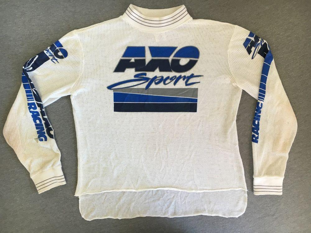 cfd760b74dc33 AXO SPORT Jersey Shirt 80s 90s Vtg Mesh Motocross Dirt Bike BMX ...