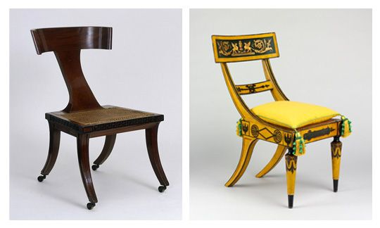 Klismos Chairs Inspired By Ancient Greek Furniture