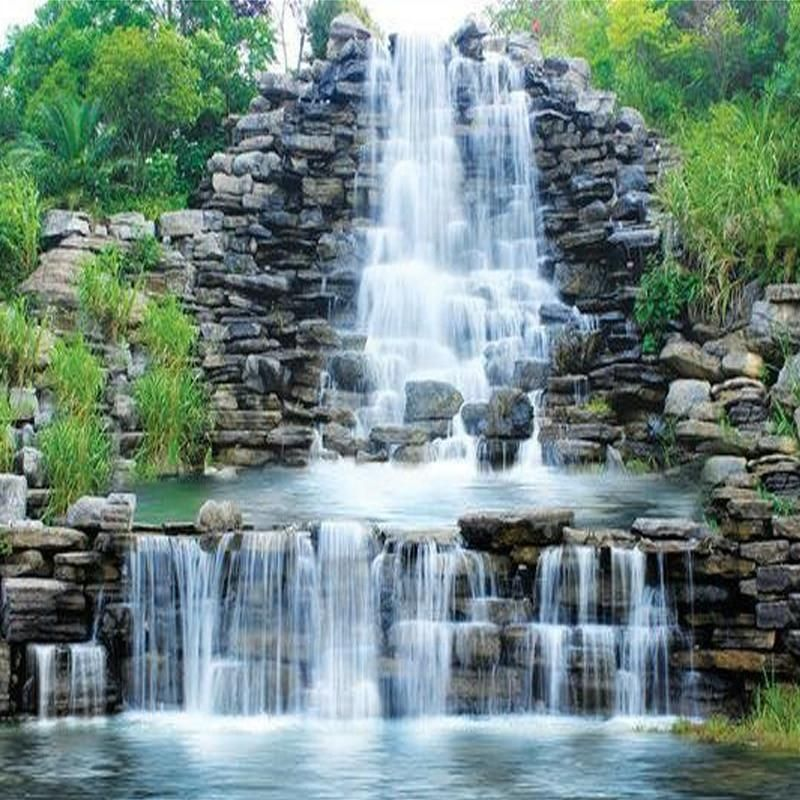 Non woven Wall Mural Photo Wallpaper Poster Picture Image Waterfall Iceland