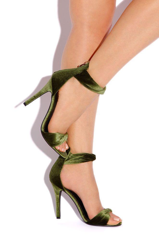 Lola Shoetique - Sultry Twist - Olive Velvet, $33.99 (http://www.lolashoetique.com/sultry-twist-olive-velvet/)