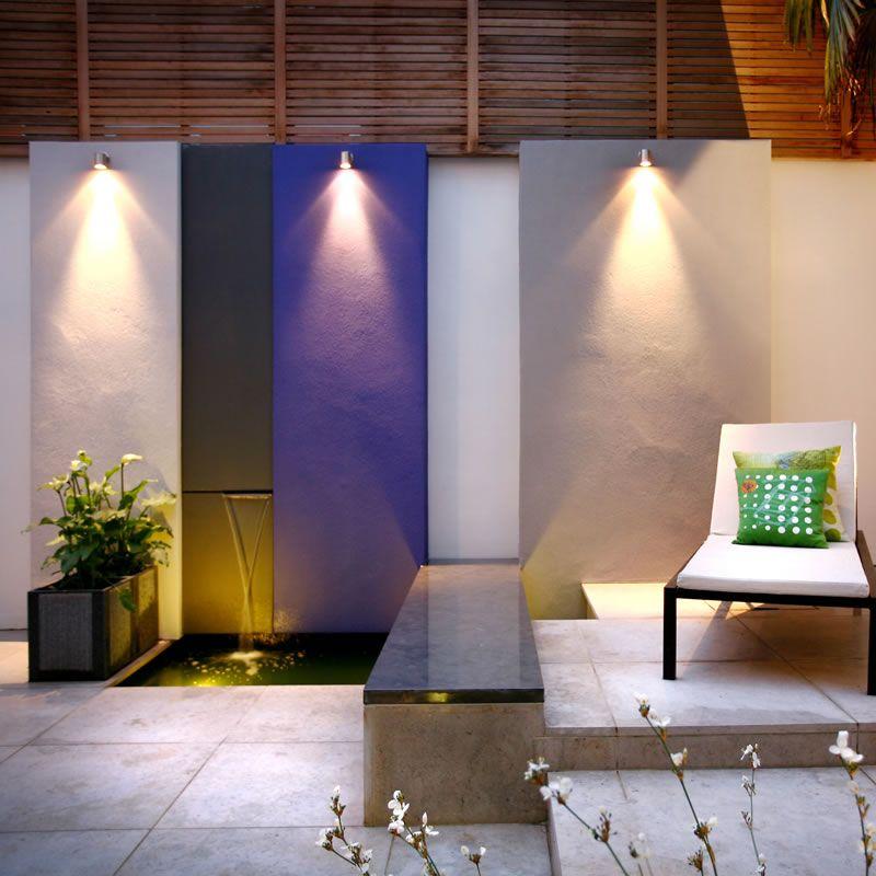 Beau Wall Downlight Wall Mounted Garden Light On Feature Wall