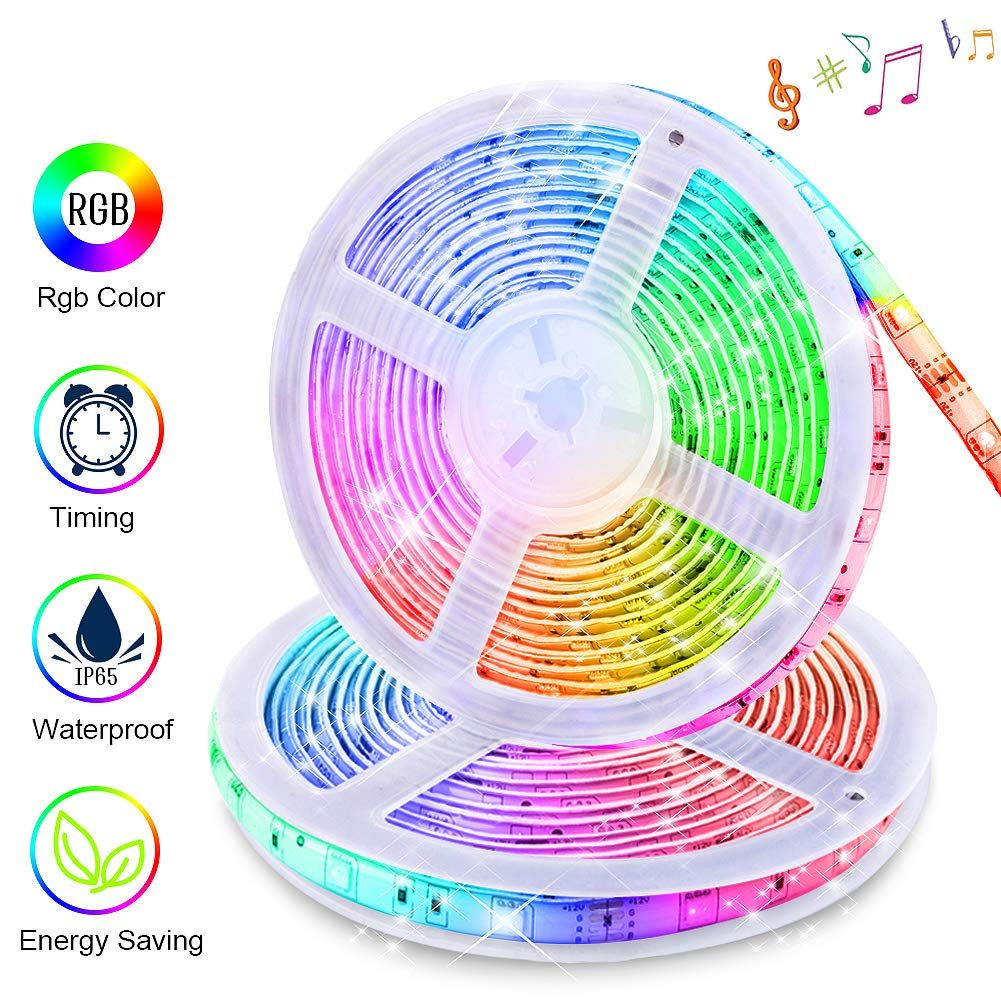 Led Strip Lights Sync To Music Led Strip Lighting Strip Lighting Rgb Led Strip Lights