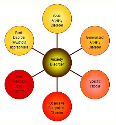 Image result for types of anxiety disorders