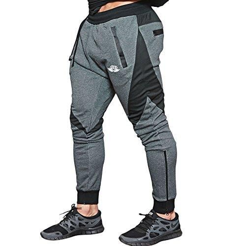 EU Men\u0027s Joggers Pants Gym Workout Pant Running Trousers with Pockes
