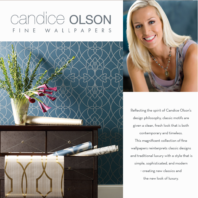 Candice Olson's Newest Wallpaper Collection: Modern Luxe ...