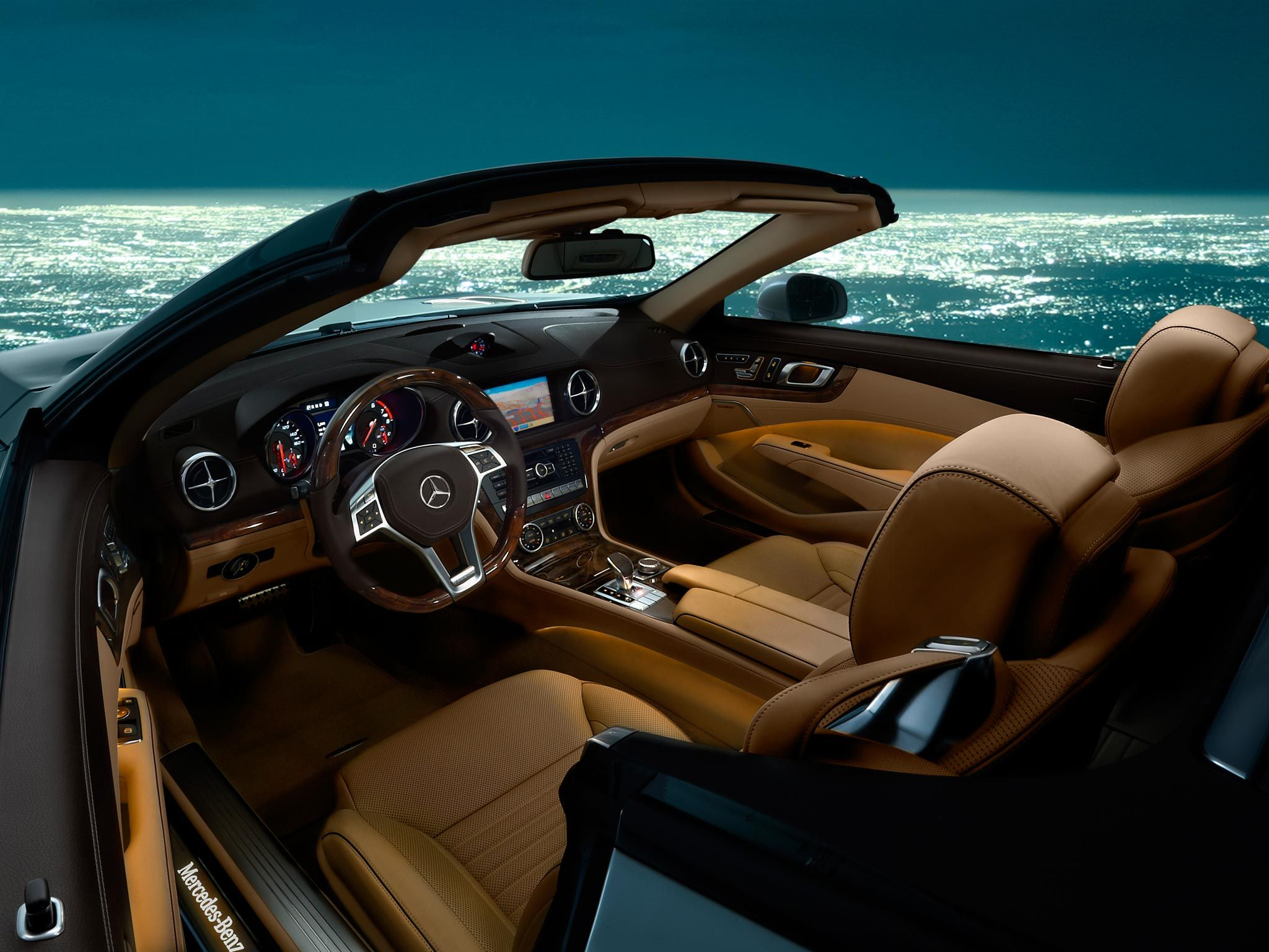 A 2013 MERCEDESBENZ SL ROADSTER INTERIOR Mercedes Cars Rides