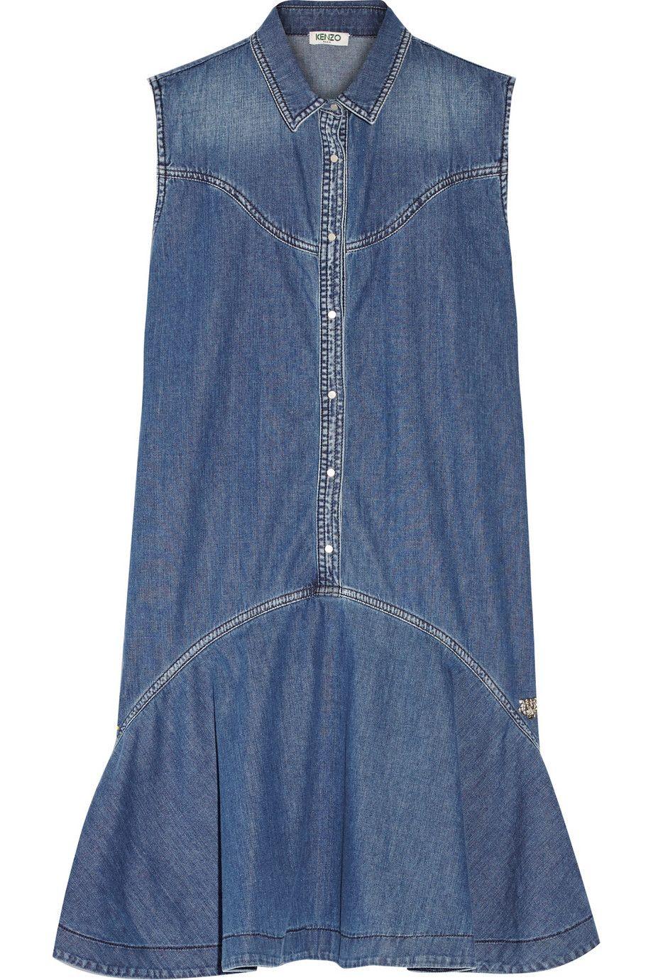 KENZO   Mini robe en jean à volants   NET-A-PORTER.COM   todo en ... b5aa06fce547