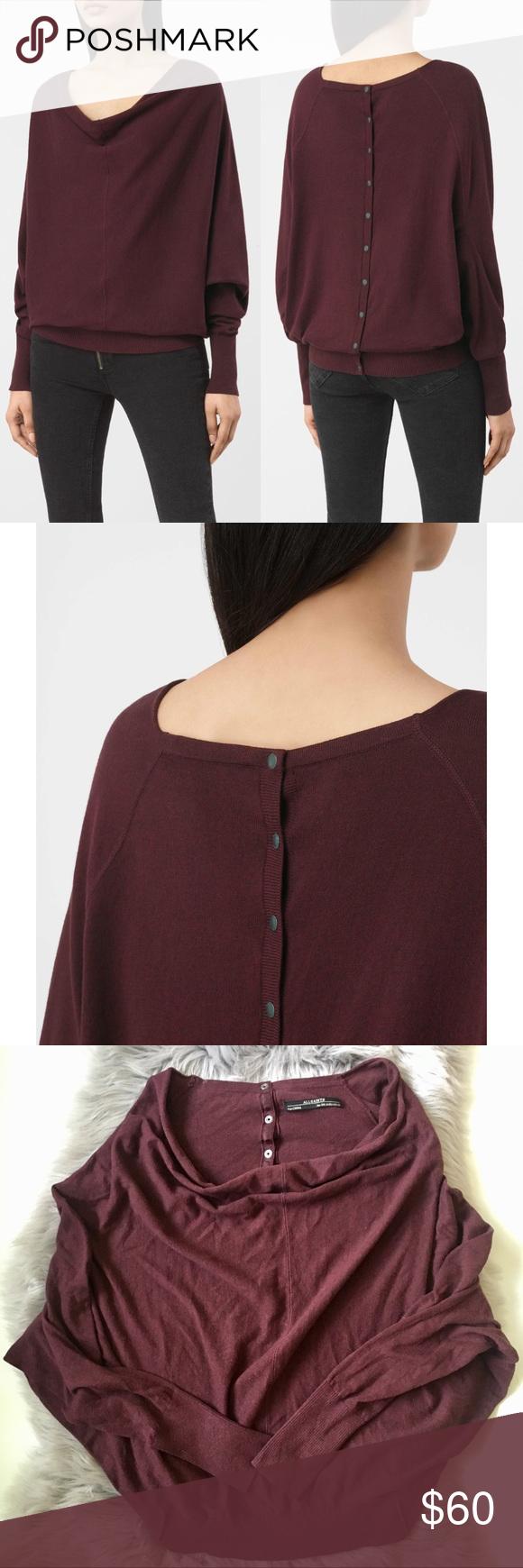 ALL SAINTS• Elgar Cowl Neck Sweater